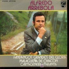 Discos de vinilo: ALFREDO ARREBOLA - LA TARANTA SOBERANA / Y TE TENGO QUE QUERER / MI VIDA NO TIENE SENTIO - EP 1972. Lote 13826518