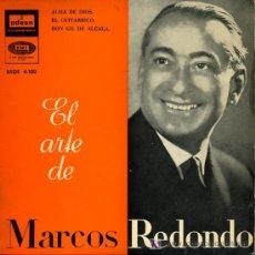 Discos de vinilo: MARCOS REDONDO - ALMA DE DIOS / EL GUITARRICO / DON GIL DE ALCALÁ - EP 1960. Lote 6882765