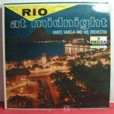 Discos de vinilo: DANTE VARELA AND HIS ORCHESTRA ( RIO AT MIDNIGHT ) USA LP33 DECCA RECORDS. Lote 6868489
