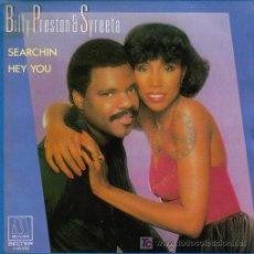 Discos de vinilo: BILLY PRESTON AND SYREETA-SEARCHING + HEY YOU SINGLE VINILO MOTOWN 1981. Lote 6875296