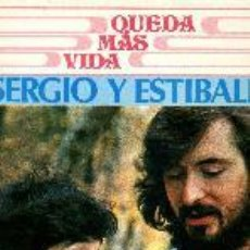 Discos de vinilo: SERGIO Y ESTÍBALIZ LP QUEDA MÁS VIDA E+/E+. Lote 27091803
