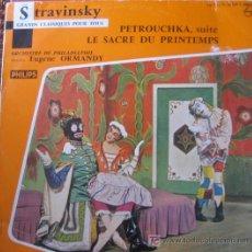 Discos de vinilo: STRAVINSKY.PETROUCHKA-LE SACRE DU PRINTEMPS. O. PHILADELPHIE DIR. EUGENE ORMANDY. PHILIPS G 03.510L . Lote 26888758