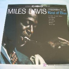 Discos de vinilo: LP MILES DAVIS KIND OF BLUE VINILO AZUL 180 G PRECINATDO. Lote 287467438
