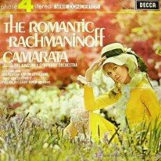Disques de vinyle: THE KINGSWAY SYMPHONY ORCHESTRA-ROMANTIC RACHMANINOFF CAMARATA LP DECCA 1971. Lote 7020274