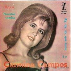 Discos de vinilo: CARMINA CAMPOS EP SELLO ZAFIRO AÑO 1963. Lote 7067303