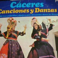 Discos de vinilo: CACERES,CANCIONES Y DANZAS,SECCION FEMENINA,HISPAVOX. Lote 26380314