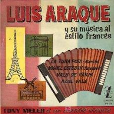 Discos de vinilo: LUIS ARAQUE EP SELLO ZAFIRO AÑO 1959. Lote 7077640