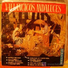 Discos de vinilo: VILLANCICOS ANDALUCES CON MANOLO ESCOBAR, LOLA FLORES,JUANITO VALDERRAMA,DOLORES VARGAS,...(LP). Lote 7096753