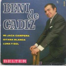 Discos de vinilo: BENI DE CADIZ,MI JACA CAMPERA. Lote 7107955