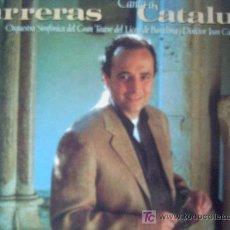Disques de vinyle: JOSEP(JOSE) CARRERAS,CANTA A CATALUNYA,DOBLE LP. Lote 7108544