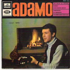 Discos de vinilo: ADAMO - UNE ECHE DE CHEVEUX +3 EP ***LA VOZ DE SU AMO ***. Lote 7126478