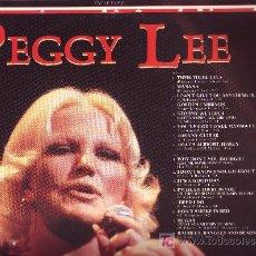 Discos de vinilo: PEGGY LEE LP THE ENTERTAINERS VERSIONES ORIGINALES ENT LP13012 ITALY 1988. Lote 27053327