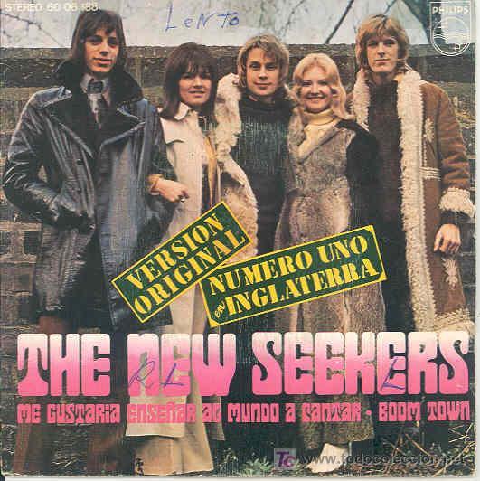 THE NEW SEEKERS - ME GUSTARIA ENSEÑAR AL MUNDO A CANTAR / BOOM TOWN - SINGLE ESPAÑOL DE 1972 (Música - Discos - Singles Vinilo - Pop - Rock - Extranjero de los 70)
