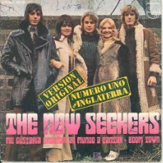 Discos de vinilo: THE NEW SEEKERS - ME GUSTARIA ENSEÑAR AL MUNDO A CANTAR / BOOM TOWN - SINGLE ESPAÑOL DE 1972. Lote 7157175