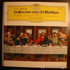 Discos de vinilo: LP - J.S. BACH - LA PASION SELON ST. MATTHIEU - DEUTSCHE GRAMMOPHON. Lote 9752749