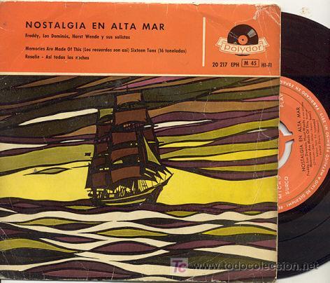 EP 45 RPM / FREDDY (EUROVISION 1956 ) //EDITADO POR POLYDOR ESPAÑA (Música - Discos de Vinilo - EPs - Festival de Eurovisión)