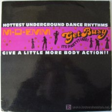 Discos de vinilo: M-D-EMM - GET BUSY (ITS PARTY TIME) - CLUB MIX / RADIO EDIT / BUSY HOUSE MIX - MAXISINGLE - 1988. Lote 74233474