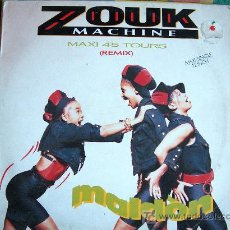 Discos de vinilo: MAXI - ZOUK MACHINE - MALDON/REMIX - ORIGINAL ESPAÑOL, ARIOLA 1990. Lote 7264529