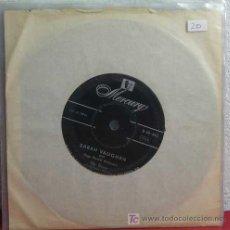 Discos de vinilo: SARAH VAUGHAN WITH UGO PERETTI ORCHESTRA ( IDLE GOSSIP - MAKE SOURSELF CONFORTABLE ) SINGLE45. Lote 7276475