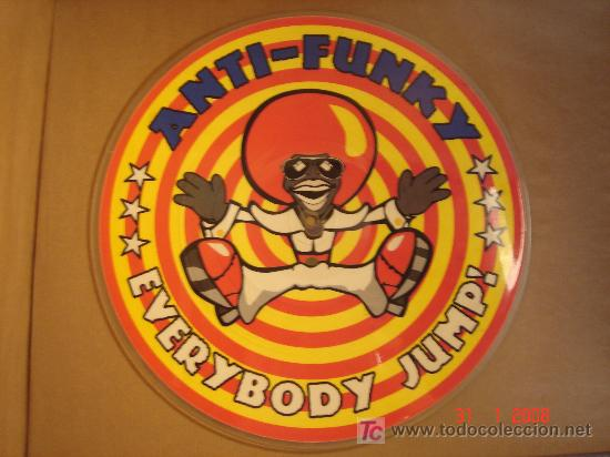 DISCO LP VINILO PICTURE DISC ANTI-FUNKY EVERYBODY JUMP (Música - Discos - LP Vinilo - Pop - Rock Extranjero de los 90 a la actualidad)