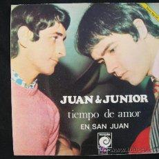 Discos de vinilo: JUAN & JUNIOR TIEMPO DE AMOR EN SAN JUAN. Lote 24868202