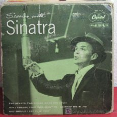 Discos de vinilo: FRANK SINATRA (LEARNIN' THE BLUES - WHY SHOULD I CRY OVER YOU? - TWO HEARTS,TWO KISSES...) EP45. Lote 7286555