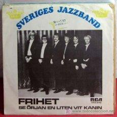 Discos de vinilo: SVERIGES JAZZBAND ( FRIHET - SE ORJAN EN LITEN VIT KANIN ) 1970 SINGLE 45. Lote 7288188