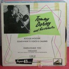 Discos de vinilo: TOMMY DORSEY AND HIS ORCHESTRA ?– BOOGIE-WOOGI, FRANCE EP LA VOIX DE SON MAITRE. Lote 7288443