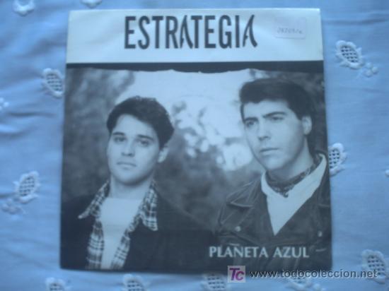 ESTRATEGIA:PLANETA AZUL/SINGLE PROMOCIONAL 1993 SALAMANDRA (Música - Discos - Singles Vinilo - Grupos Españoles de los 90 a la actualidad)