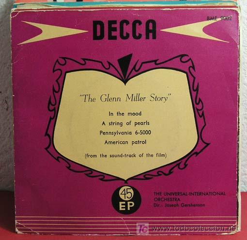 JOSEPH GERSHENSON 'THE GLENN MILLER STORY' (I THE MOOD .- A STRING OF PEARLS - AMERICAN PATROL... (Música - Discos - Singles Vinilo - Orquestas)