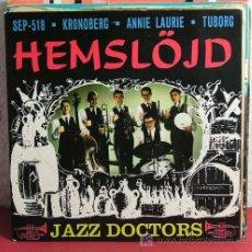 Discos de vinilo: JAZZ DOCTORS ( KRONOBERG - ANNIE LAURIE - EMSLOJD - TUBORG ) EP45 COLOR AZUL. Lote 7319572