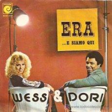 Discos de vinilo: WESS & DORI SINGLE SELLO NOVOLA EUROVISIÓN 1975. Lote 7367604