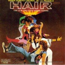 Discos de vinilo: BSO HAIR - EASY TO BE HARD + GOOD MORNING STARSHINE SG PROMO RCA 1979. Lote 7372320