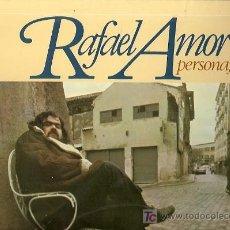 Discos de vinilo: RAFAEL AMOR LP SELLO MOVIEPLAY AÑO 1978 PERSONAJES. Lote 7413729