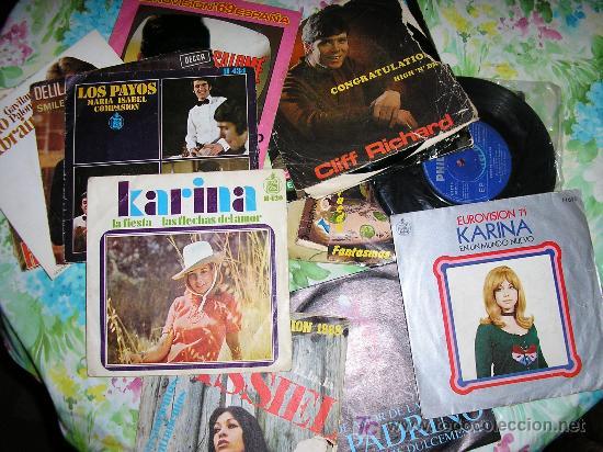 LOTE 20 SINGLES - KARINA - NINO BRAVO - CLIFF RICHARDS - PABLO ABRAIRA - SALOME - PALITO ORTEGA (Música - Discos - Singles Vinilo - Cantautores Españoles)