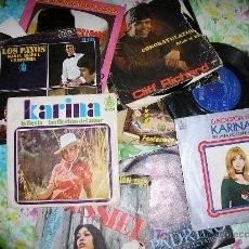 Discos de vinilo: LOTE 20 SINGLES - KARINA - NINO BRAVO - CLIFF RICHARDS - PABLO ABRAIRA - SALOME - PALITO ORTEGA. Lote 26495832