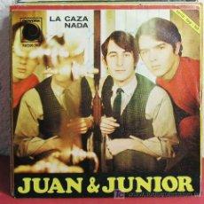 Discos de vinilo: JUAN & JUNIOR ( LA CAZA - NADA ) ESPAÑA - 1967 SINGLE45 NOVOLA. Lote 7437048