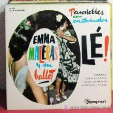 Discos de vinilo: EMMA MALERAS Y ORQUESTA 'PASODOBLES'(ISLAS CANARIAS - VENTA DE VARGAS - LOLA LUNARES - TALENTO) EP. Lote 7452396