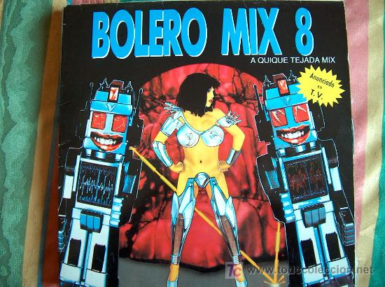 LP - BOLERO MIX 8 - A QUIQUE TEJADA MIX - DOBLE DISCO, ORIGINAL ESPAÑOL, BLANCO Y NEGRO MUSIC 1991 (Música - Discos - LP Vinilo - Disco y Dance)