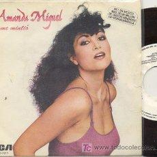 Discos de vinilo: SINGLE PROMO 45 RPM / AMANDA MIGUEL / EL ME MINTIO /// EDITADO POR RCA // NUEVO . Lote 14964160