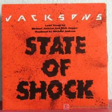 Discos de vinilo: JACKSON 5 LEAD VOCALS BY MICHAEL JACKSON & MICK JAGGER ( STATE OF SHOCK - YOUR WAYS ). Lote 7519673