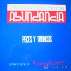 Discos de vinilo: LOS COYOTES DE VICTOR ABUNDANCIA,PECES Y TRONCOS,MAXISINGLE,DEL 90. Lote 7524040
