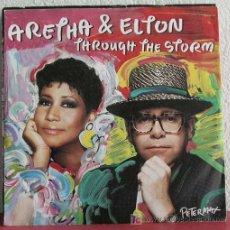 Discos de vinilo: ARETHA FRANKLIN & ELTON JOHN ( THROUGH THE STORM - COME TO ME ) GERMANY-1980 SINGLE45 ARISTA. Lote 7545331