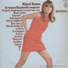 Discos de vinilo: MIGUEL RAMOS (SU ÓRGANO HAMMOND Y ORQUESTA). RF (S) 11-176. Lote 13486420
