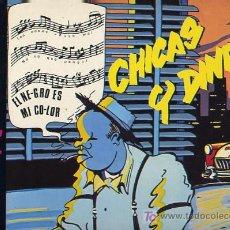 Discos de vinilo: LOS ELEGANTES.MAXI 12´´ 45 RPM. CHICAS Y DINERO. MOVIDA. ZAFIRO, AÑO 1985. Lote 26537591