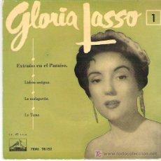 Discos de vinilo: GLORIA LASSO 1 - EXTRAÑO EN EL PARAISO + 3 EP *** LA VOZ DE SU AMO. Lote 11423178