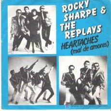 Discos de vinilo: ROCKY SHARPE & THE REPLAYS -HEARTACHES ** CHISWICK 1980. Lote 15535930