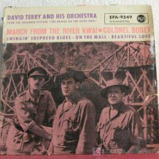 Discos de vinilo: DAVID TERRY & ORCHESTRA (MARCH FROM THE RIVER KWAI - COLONEL BOGEY - ON THE MALL -...) EP45 RCA. Lote 7595368