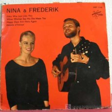 Discos de vinilo: NINA & FREDERIK (EDEN WAS JUST LIKE THIS - WHEN WOMAN SAY NO SHE MEAN YES - MALADIE D'AMOUR -...) EP. Lote 15740785