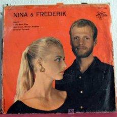 Discos de vinilo: NINA & FREDERIK (DAY-O - COME BACK,LIZA - MAN SMART,WOMAN SMARTER - JAMAICAN FAREWELL) EP45. Lote 7595574